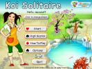 the first screenshot of the game Koi Solitaire